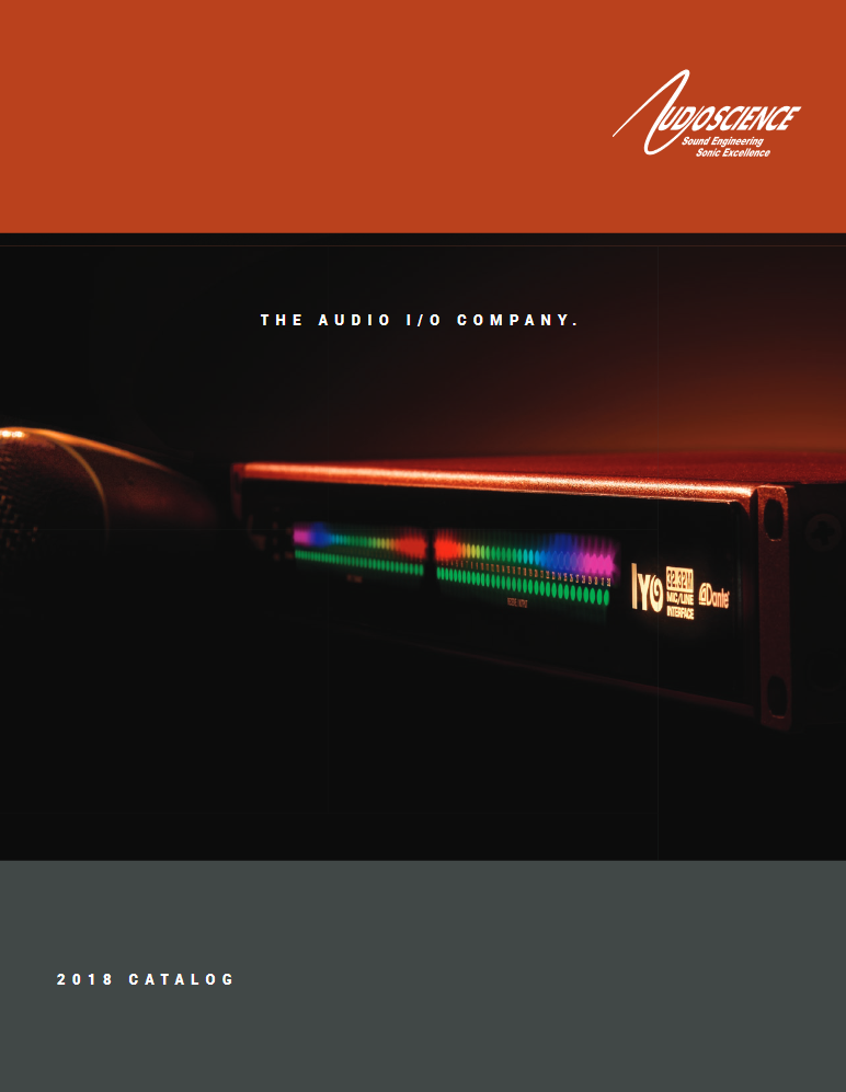 AudioScience 2018 audio products catalog